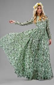 design abendkleider aus seide mit ärmeln grün