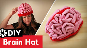 diy brain hat halloween costume youtube