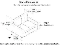 average couch depth sofa size banatul info