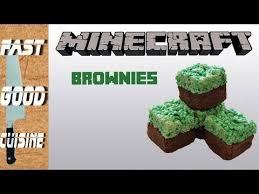 recette facile brownies minecraft fastgoodcuisine youtube