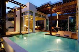 simple indoor outdoor pool house with amazing furniture homelk com