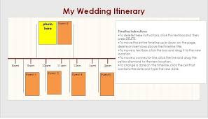 wedding itinerary template for guests wedding templates free template downloads