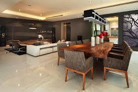 cuisine ouverte sur salle à manger design interieur cuisine ouverte salon salle manger table bois