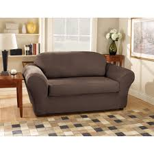Sure Fit Cotton Duck T Cushion Sofa Slipcover by Sure Fit Suede Loveseat Stretchable Slipcovers Walmart Com