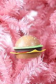 diy hamburger tree ornaments