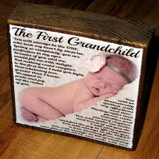 first grandchild poem for grandma personalized larger photo poem