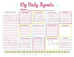 planner page templates daily agenda planner template printable editable blank calendar 2017 6 best images of daily agenda printable pdf daily agenda