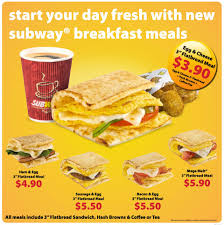 cuisine subway morning guys start the day with subway singapore