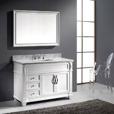 Single Bathroom Vanity by Virtu Usa Victoria 48 Single Bathroom Vanity Set In White