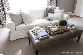 Tufted White Sofa by How We Supersized Our Ikea Ektorp Sofa Ektorp Sofa Living Rooms