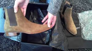 saint laurent wyatt 30 chelsea boots unboxing youtube