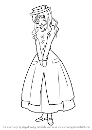 learn how to draw paula from black butler black butler step by