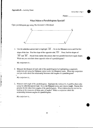 properties of parallelograms worksheet quia class page geometry period 4