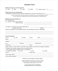 doc 401523 sample donation forms u2013 donation form a donation form