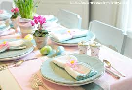 Easter Table Setting Sweet And Simple Easter Table Setting Town U0026 Country Living