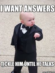 Game Day Meme - a little boy in a suit pointing down with a funny caption
