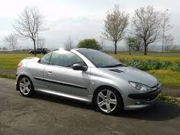 peugeot silver peugeot 206 cc 1 6 cab in silver metallic in consett county