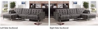 Left Sided Sectional Sofa Sectional Sofa In Grey Fabric By Esf W Sleeper