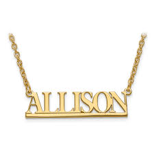 Name Plate Jewelry Custom Nameplate Ojb Jewelry