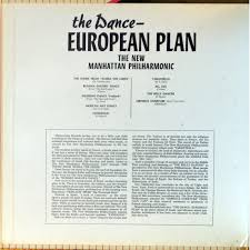 the dance european plan by the new manhattan philharmonic lp