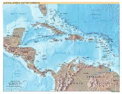political map of central america and the caribbean central american and caribbean political map the caribbean mappery