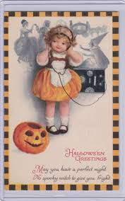 326 best fall into halloween postcards images on pinterest