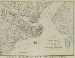 Map Of Constantinople Map Of Istanbul 1807 F Kauffer And I B Lechevalier