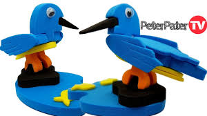 diy how to make 3d kingfisher bird bird making craft for kids