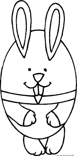 printable easter bunny and eggs coloring pages for kids free