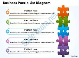 templates of ppt business puzzle list diagarm powerpoint templates ppt presentation