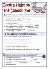 7 free esl london eye worksheets