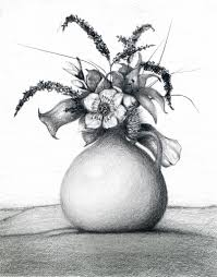 flower wash pencil art how to draw a flower vase pencil drawing