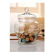 clear glass canisters for kitchen amazon com elegant clear glass apothecary jar with lid 11 inch