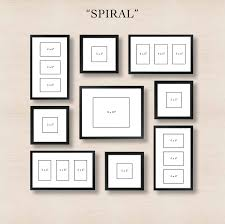 spiral gallery wall layout tip start with placing the center