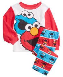 Elmo Bathroom Set Sesame Street 2 Pc Elmo U0026 Cookie Monster Pajama Set Toddler Boys
