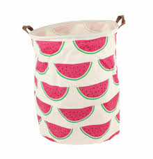 Canvas Laundry Hamper by Large Canvas Storage Toy Or Laundry Basket Watermelon Design