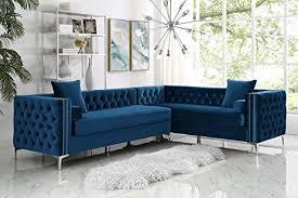 Corner Sectional Sofas 120 Navy Blue Velvet Corner Sectional Sofa Button