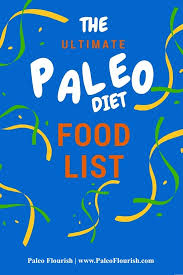 the ultimate paleo diet food list infographics
