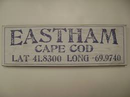 eastham distressed sign latitude longitude snows home and garden