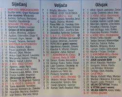 Crkveni Kalendar Za 2018 Katolicki Ovdje ćete Naći Najvažnije Hrvatske Blagdane Svetce I Praznike