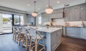 elegant blue grey kitchen cabinets home design