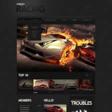 car racing templates templatemonster