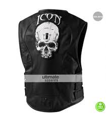 leather motorcycle jacket icon regulator skull leather motorcycle vest