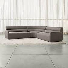 curved sectional sofa curved sectional sofas crate and barrel