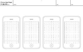 iphone blank template free printable sketching wireframing and note taking pdf