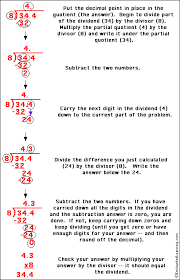 dividing a decimal by an integer enchantedlearning com