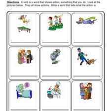 verb worksheet 1 verbs are actions