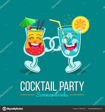 cocktail party cartoon cocktails menu cover template two friends funny cartoon cocktail