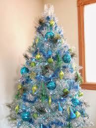 family peacock tinsel tree