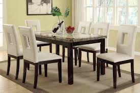 Cream Leather Dining Room Chairs Stunning Leather Dining Room Set Images Home Design Ideas